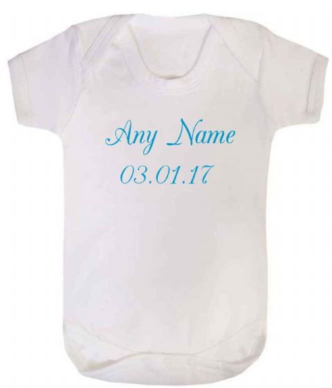 Baby Vest/Bodysuit With Name And Date